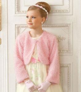 Болеро для девочки с коротким или длинным рукавом