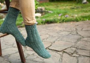 Вязание мужских носков на 5 спицах