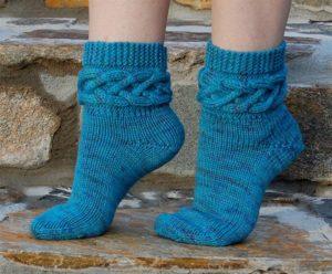 Вязание пяток носков спицами