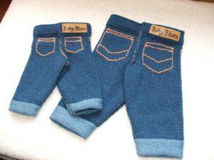 Вязаные «джинсы»