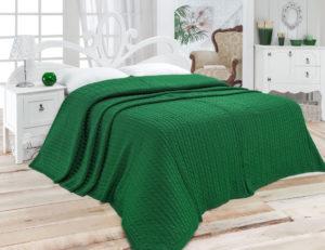Вязаные покрывала на кровать