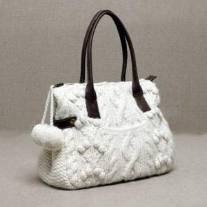 Вязаные сумки спицами