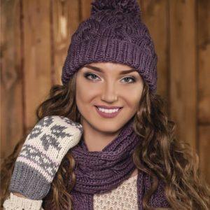 вязаные шапки спицами для женщин схемы описание фото