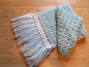 Вязаные шарфы крючком