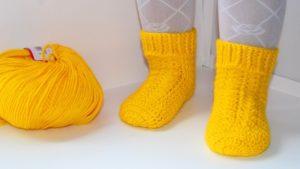 Детские носки на 5 спицах для малыша