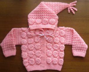 Жакет розовый с капюшоном для девочки