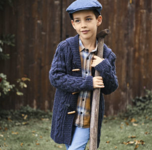 Жакет тёмно-синий с капюшоном для мальчика
