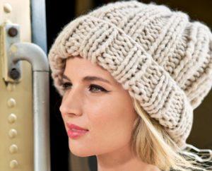 Женская шапка спицами для начинающих. Мастер класс
