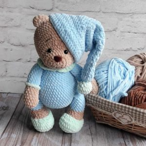 Игрушка спицами – мишка Тедди