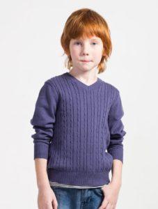 Пуловер крючком для мальчика