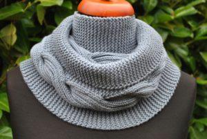 Связать шарф-снуд спицами для женщины
