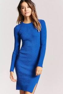 Синее платье из элементов