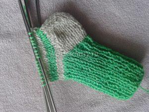 Ступнядетского носка спицами