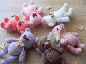 Схема для вязания игрушки Медвежонок Кроха
