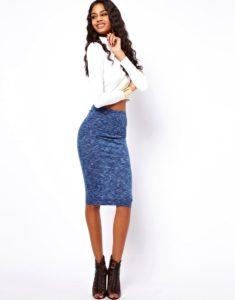 С чем носить вязаную юбку?