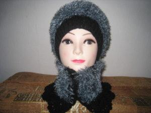 Теплая шапка из травки